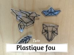 Crazy plastic object- Tuto objet plastique fou learn how to easily create crazy plastic objects. Complete tutorial to make a keychain or fancy jewelery in crazy plastic or crazy plastic - Plastic Fou, Shrink Plastic, Shrinky Dinks, Door Makeover, Diy Door, Door Design, Origami, Jewelery, Projects To Try
