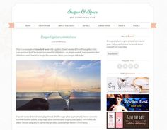 51 Best Free WordPress Themes - Sugar and Spice is a chic, responsive, feminine theme created with wedding blogs and wedding industry in mind.