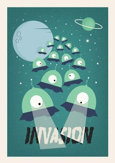 For wall-to-wall fun, add your personality to everything from dorm rooms to the board room with cool posters. Buy from thousands of unique poster prints with all types of designs, most available in all sorts of sizes of wall posters from A4 posters to A3 posters. - See more at: http://www.cyankart.com/collections/posters/products/alien-invasion-poster