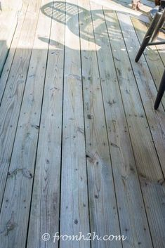 Looking for an easy and inexpensive way to wash your deck? This DIY deck cleaner is the best homemade deck wash recipe I have found. It will make your deck look brand new again and it's non toxic. #DIYDeckCleaner #HomemadeDeckCleaner #DeckCleaner #NonToxicDeckCleaner