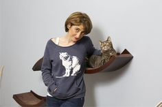 Cat sweater crazy cat lady Abby cat shirt Mothers Day by RCTees