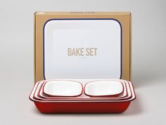 Bake set from Falcon Enamelware in the UK.