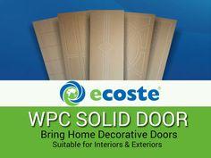Change the entire look of your #Home with Designer Decorative #Doors - http://www.ecoste.in/door/