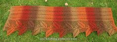 ABC Knitting Patterns - Autumn Leaves Filet Crochet Shawlfree pattern Sport weight yarn, 660 yards