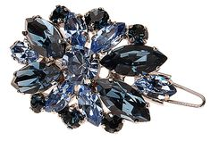 L. Erickson Countess Crystal Tige Boule Barrette