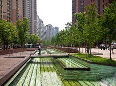 Gubei Green Promenade in Shanghai, China by SWA Group