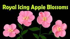 How to Make Royal Icing Apple Blossom Flowers by Cookies Cupcakes and Ca...