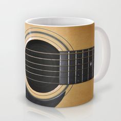 Guitar Mug by Nicklas Gustafsson - $15.00