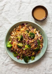 Quick & Easy Brown Rice Lentil Stir Fry with Peanut Butter Sauce   The Full Helping