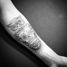 50+ Owl and Skull Tattoo Ideas For Your First Ink. I may have already pinned this because its so awesome!
