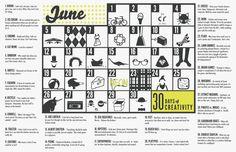 30 days of creativity - June 2012