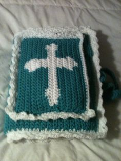 Crocheted Bible Cover by PaulettesGifts on Etsy, $30.00
