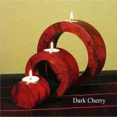 Globe Ringed Mango Candle Holders