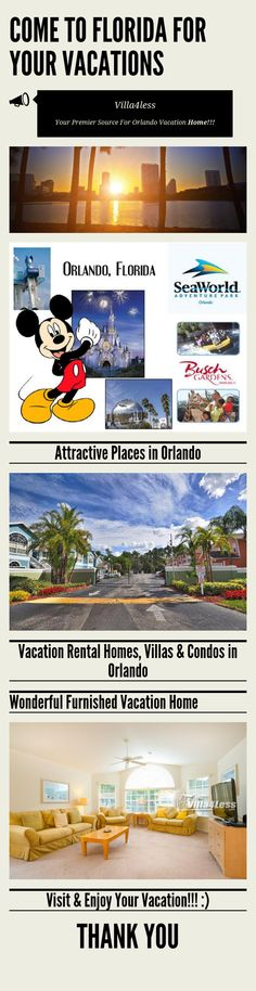 How to enjoy Your Vacation in Orlando? Have a look:   #Orlandovacation  #Vacationrental  #Homefoerent