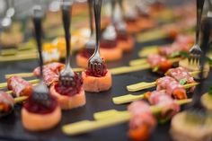 Smoked Salmon Canapes Provided By Unique Norfolk Venues