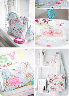 Handmade handbag a la Cath Kidston. (In English and Swedish)