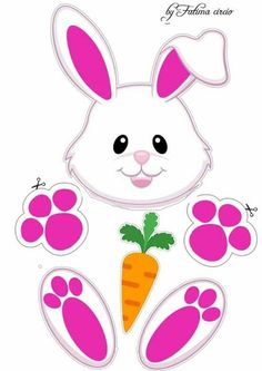 Bunny Crafts, Easter Crafts, Felt Crafts, Holiday Crafts, Crafts For Kids, Frozen Paper Dolls, Art Worksheets, Bunny Face, Mickey Mouse Parties
