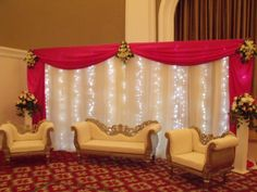 Wedding Decorations | Wedding stage backdrops decoration seasonal flowers stage…