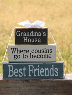 gift for grandma wood block stack grandmas by spanggangdesigns christmas gifts for cousins christmas gift
