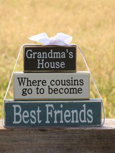 Gift for Grandma Wood Block Stack Grandma's by SpangGangDesigns