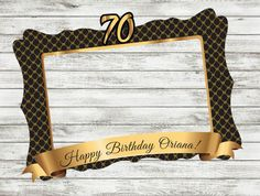 Happy 75th Birthday, 70th Birthday Parties, Adult Birthday Party, Man Birthday, Birthday Photo Frame, Birthday Frames, Birthday Photos, Baby Shower Photo Booth, Baby Shower Photos