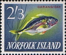 Norfolk Island 1962 Fish White Trevally Fine Mint  SG 48 Scott 60  Other European and British Commonwealth Stamps HERE!