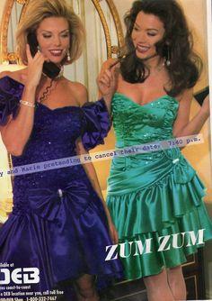 Deb and Zum Zum dresses they were IT for formal wear
