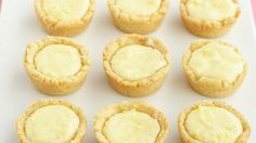 "Easy to make and charming in appearance, these tiny tarts are an ideal dinner-party dessert. The name is derived from the Scottish word for a ""small cup. Small Desserts, Lemon Desserts, Lemon Recipes, Mini Desserts, Just Desserts, Dessert Recipes, Dessert Tarts, Finger Desserts, Dessert Cups"