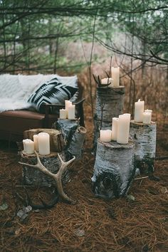 Everything is more beautiful when awash with candlelight — and there are no candle restrictions outdoors!