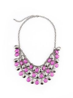 Short Double Row Faceted Beaded Necklace: Dots.com #dotspintowin