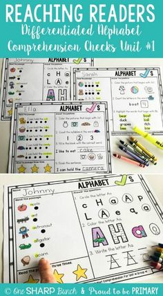 Help your students build their comprehension skills and fluency with the Alphabet Comprehension Checks. They are perfect for assessment of letters and the alphabet. These repetitive and patterned comprehension checks are perfect for your beginning readers
