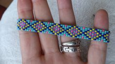 Loom beaded bracelet by Suusjabeads on Etsy Loom Bracelet Patterns, Bead Loom Bracelets, Bead Loom Patterns, Beading Patterns, Festival Bracelets, Bijoux Diy, Colorful Bracelets, Bead Crochet, Loom Beading