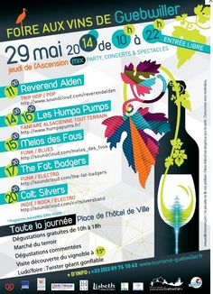 Foire aux Vins d'Alsace. Le mardi 29 avril 2014 à guebwiller.