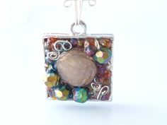 ART JEWELRY Funky 3D Bead Art Pendant Necklace  by beadinggem, $24.00