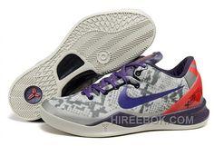 05841febc46 Nike Kobe 8 System Mens Light Gray Purple Red Christmas Deals, Price:  $119.00 - Reebok Shoes,Reebok Classic,Reebok Mens Shoes