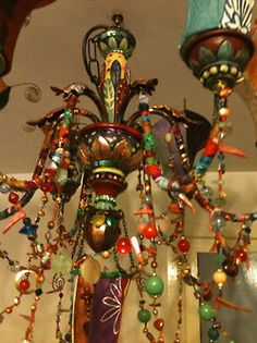 Living Color - funky beaded chandelier
