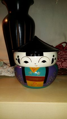 Geisha/ Made in Japan /Bento box/ miso soup/ by WolvesVeganVintage, $20.00
