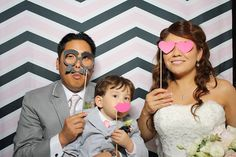 wedding day <3  photo booth  chevron