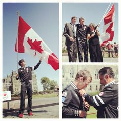 Flag bearer Simon Whitfield on Parliament Hill Hometown Heroes, Olympics, Flag, Spirit, Canada, In This Moment, London, Country