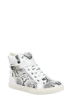 Snake Print High Top Trainers - Trainers - Shoes