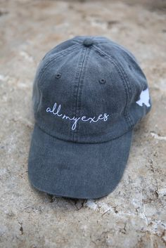 All My Exes Baseball Hat - Charcoal Grey. Baseball HatsCharcoalBaseball  CapsBaseball ... ebecb2190009