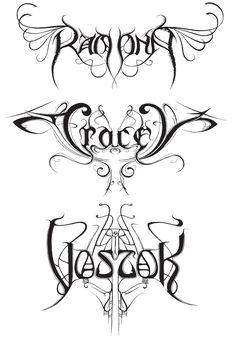 art nouveau designs | ... : The Dark Lord of Heavy Metal Logos | Co.Design | business + design