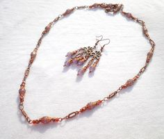 Lilac Alexandrite Antique Copper Set from juta ehted - my jewelry shop by DaWanda.com