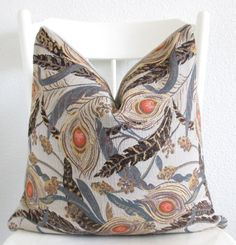Decorative pillow cover    20x20  Peacock by chicdecorpillows, $55.00