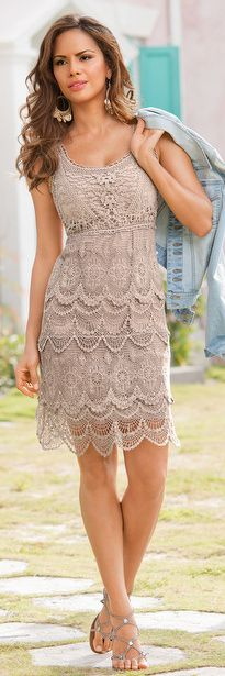 Flirty Crochet Dress | BuyerSelect.com Coolness, I have the perfect shoes for these.