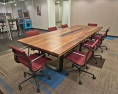 Black Walnut Conference Table at Mission Staff by RSTco.