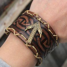 Bronze Tiwaz Rune Ravens Celtic Vikings Amulet by MAGICrebEL, $42.99