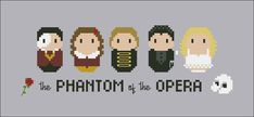 Phantom of the opera characters cross stitch