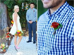 No tie, just simple button up shirt - My wedding ideas