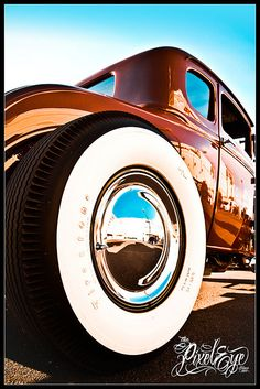 White Wall, I love the exposure on this. Old Hot Rods, Old School Cars, Kustom Kulture, Hot Rides, Car Photography, Rat Rods, Car Photos, White Walls, Hot Wheels